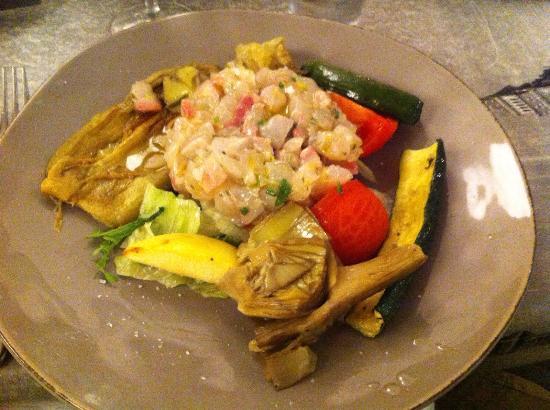 tartare di orata con verdure foto di e 39 cucina 24ForE Cucina 24 Bologna