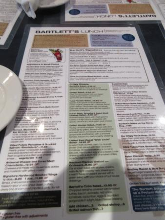 Beverly Shores, IN: menu