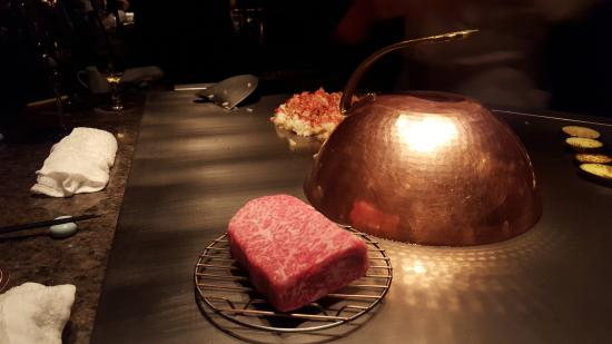 Steak House Medium Rare: The Kobe beef before being cooked