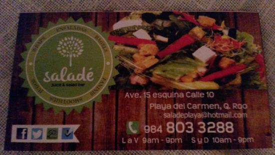 Titi Panini Pasta & Salad Bar : carte de visite recto