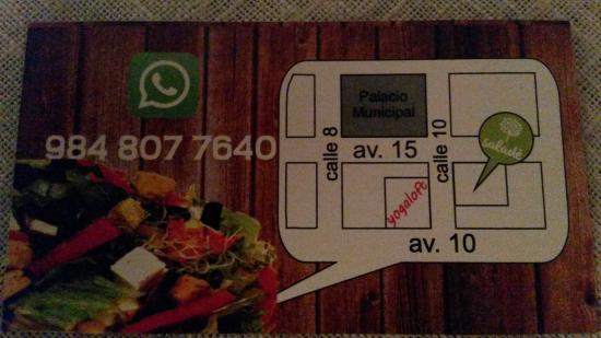 Titi Panini Pasta & Salad Bar : carte de visite verso