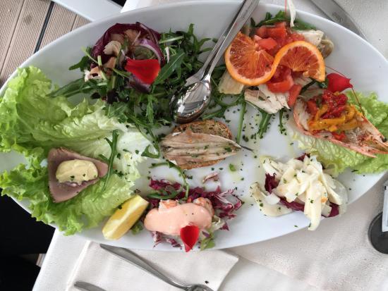 Ristorante Bagno 69 Cesenatico : Gamberoni al sale di cervia foto di ristorante riviera