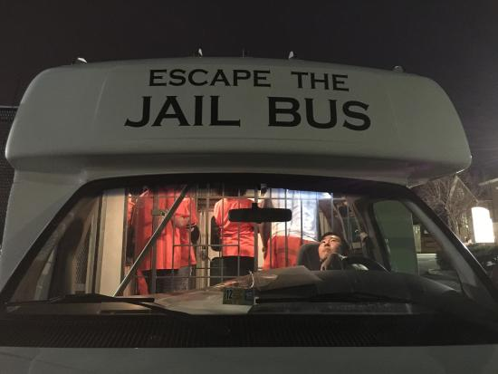 Escape Room Jail Bus