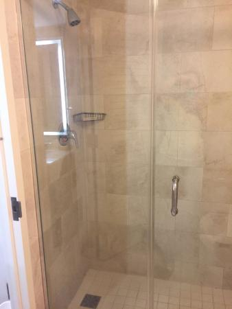 Walk in tile/glass shower. - Picture of Hilton Orlando Buena Vista ...