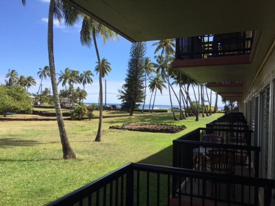 Prince Kuhio Condos: View of Prince Kuhio park and ocean from balcony