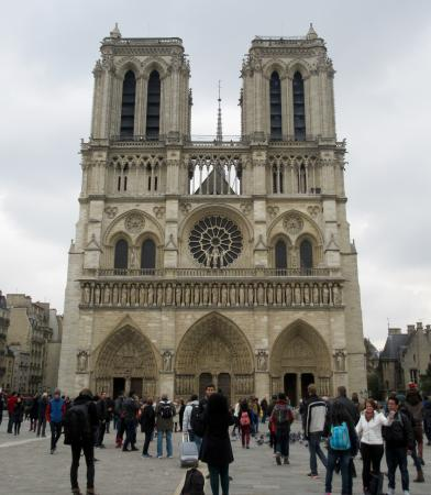 Interior architecture picture of notre dame cathedral for Exterior notre dame