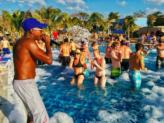 Foam Party Picture Of Melia Jardines Del Rey Cayo Coco Tripadvisor