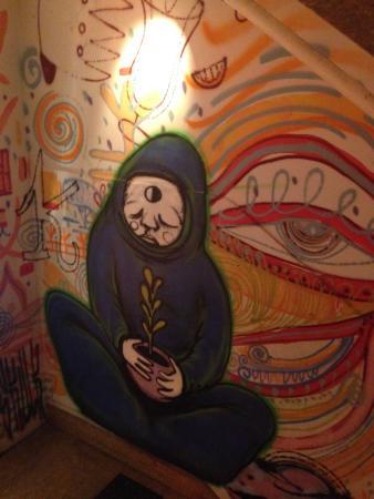 Greater Sydney, Austrália: Grafitti artwork on the stairwell walls
