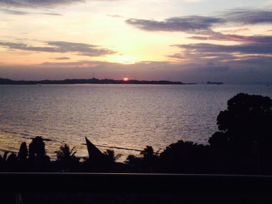 stunning sunset view from the room that s red sun not egg yolk rh tripadvisor com sg