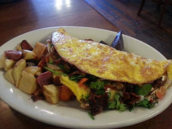 The White Hart Cafe: Veggie Omelette