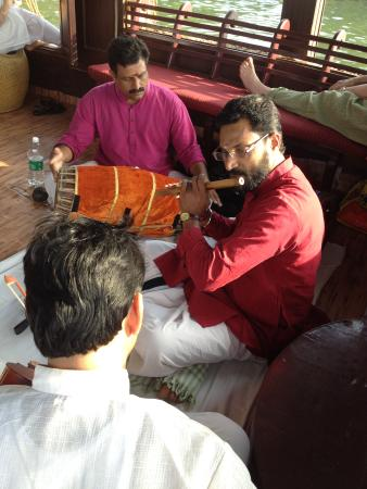 Changanacherry, India: Guests Enjoying Classical Music on House Boat Trip