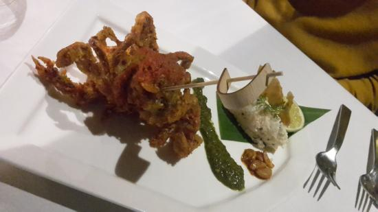 The Painted Heron: Crab Starter with a Youghurt rice cake