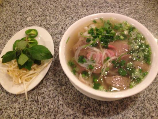 New Saigon: Pho Saigon with sprouts, basil, and peppers