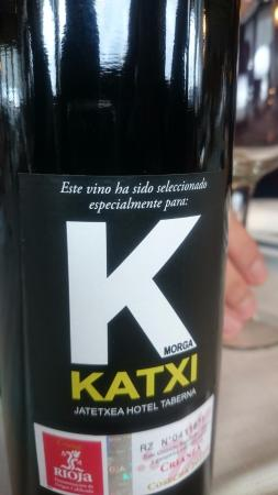 Restaurante Katxi: rioja etiquetado para Katxi