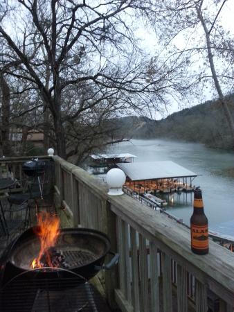 Gene's Trout Fishing Resort : View from river side deck