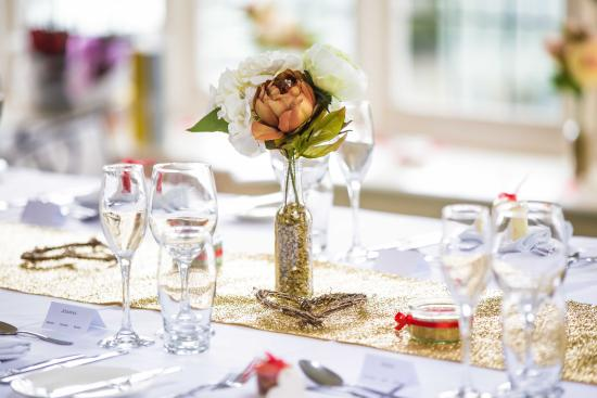 The Grange at Oborne: Wedding Table Layout in Function Room