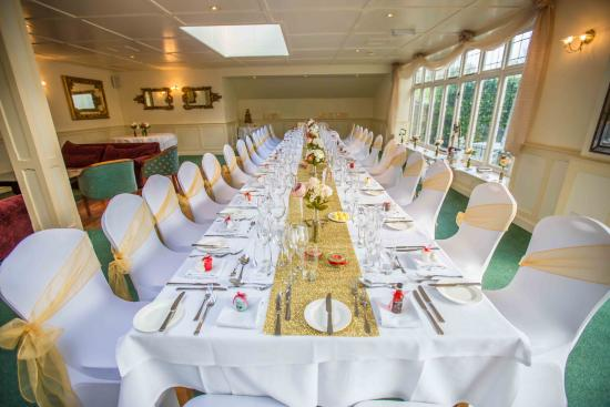 Best Western Dorset Oborne the Grange Hotel: Wedding Table Layout in Function Room