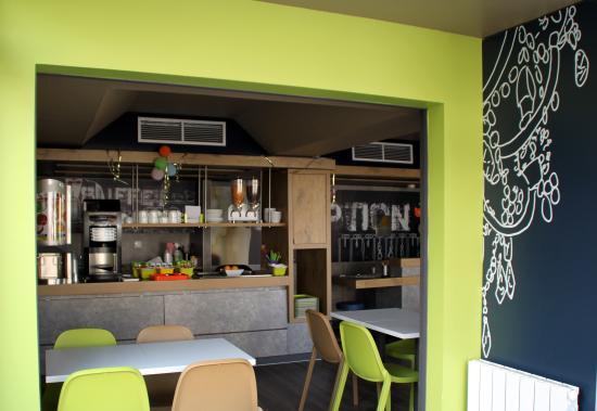Ibis Budget Strasbourg la Vigie : buffet petit déjeuner