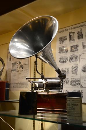 Sarthe, Francia: phonographe à pavillon