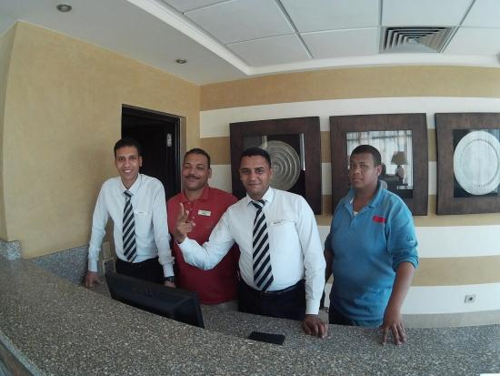 "Sol Y Mar Ivory Suites: from left to right ; Mostafa Desoury , Mohamed Ghallab , Ahmed Fawzy and Mohamed ""DEPAN"" ;-)"