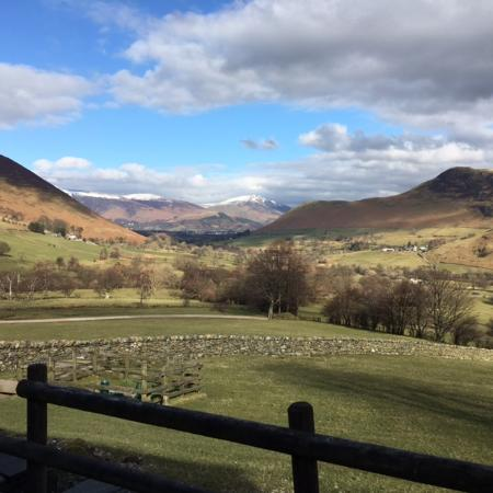Newlands Valley, UK: View from cottage
