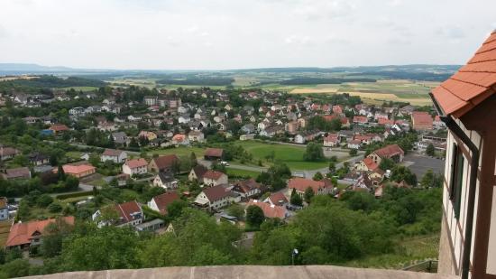 Koenigsberg in Bayern, Germany: Blick vom Schloßberg
