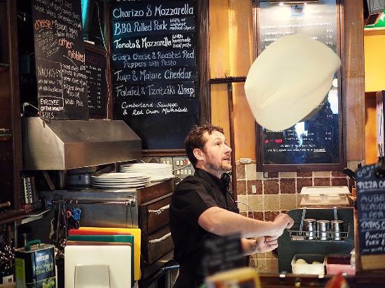 The Square Orange Cafe Bar: Dough juggling