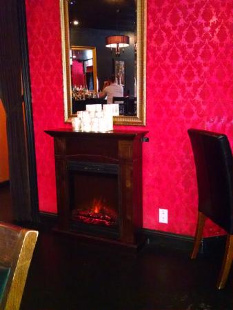 Cafe Lola Fireplace In Dining Room
