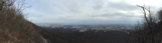 Newville, PA: Panarama view from the edge of flat rock.