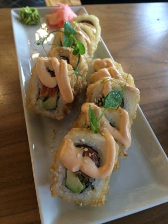 Delicious deep fried Salmon Sushi yumminess (insert name here), Beau Constantia