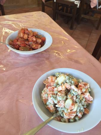giardiniera e insalata russa - antipasti