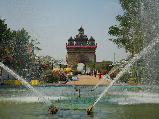 Luang Prabang Province, Laos: Pa Tou Xay Monument Vientiane