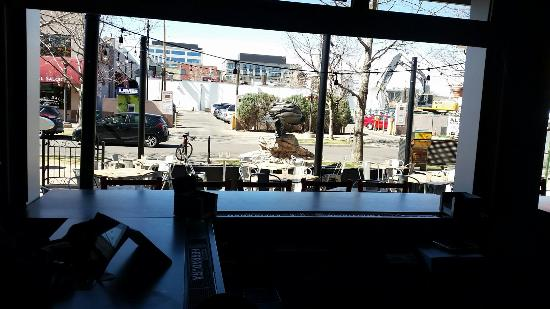 Marg's Taco Bistro: View from the bar to the seating outside