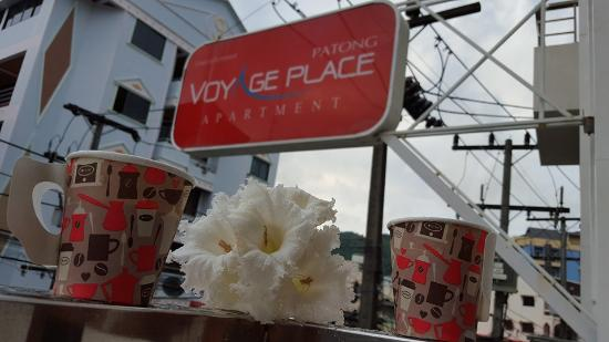 Patong Voyage Place: the balcony where i have my morning coffee!