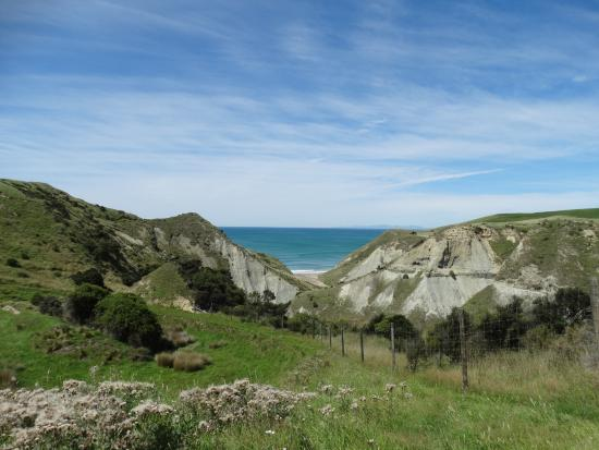 Waipara, Nova Zelândia: The walkway leads to this beach