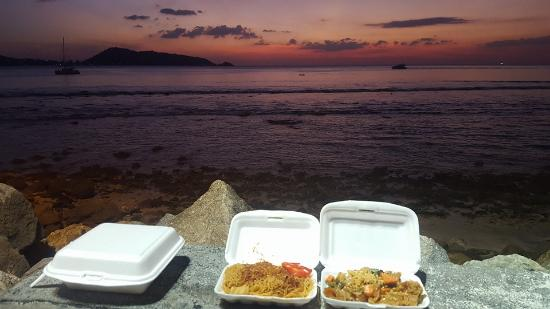 Patong Voyage Place: dinner by sunset, priceless....