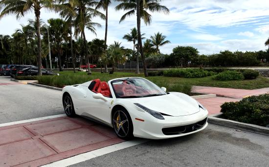 Rent a Ferrari 458 Spider in Miami Beach Florida