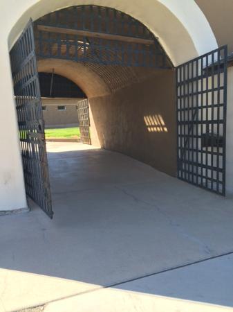 Yuma, AZ: Sally port up close, Main entrance to prison