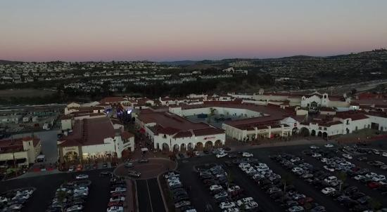 San Clemente, CA: Birds eye view of the shopping center