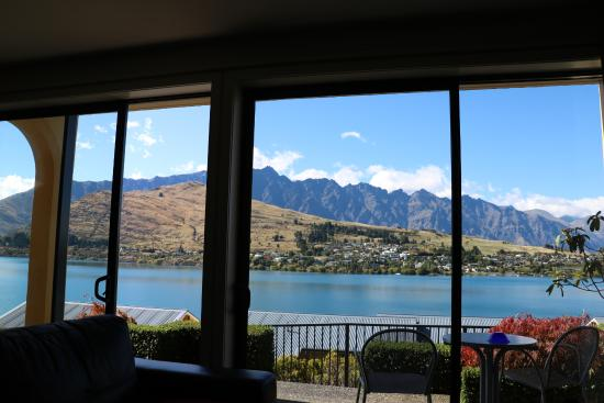 Villa Del Lago: View from the lounge of Unit 8 (one bedroom apartment)
