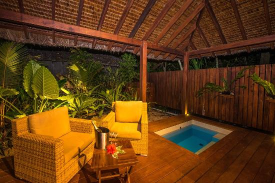 Barrier Beach Resort: A place to lounge or take a dip in your own private plunge pool