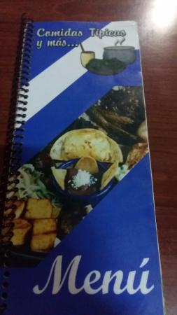 Restaurante Comidas Tipicas y mas...: Menú