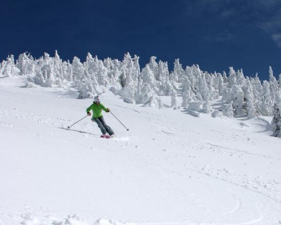 Sandpoint, ID: Skiing with the snow ghosts!