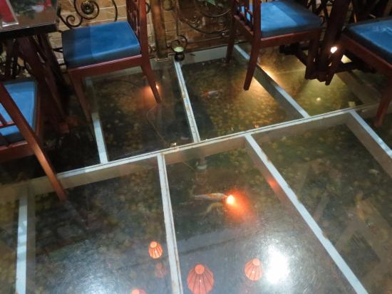 Oriental Suites Hotel Spa Restaurant Glass Floor With Koi
