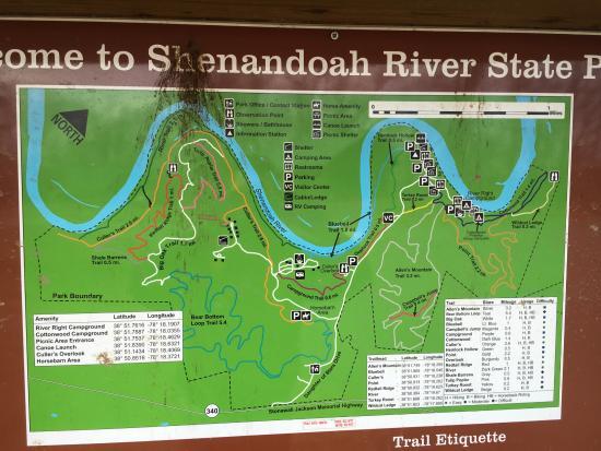 park map - Picture of Shenandoah River State Park ...
