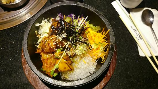 teriyaki chicken dolsot picture of o bal tan bbq korean restaurant rh tripadvisor com au
