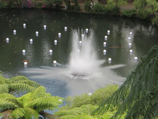 New Plymouth, Nueva Zelanda: Pukekura Park lake...