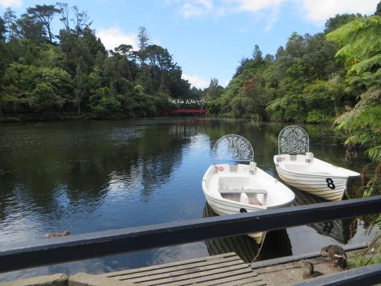 New Plymouth, Nueva Zelanda: Boating on the lake