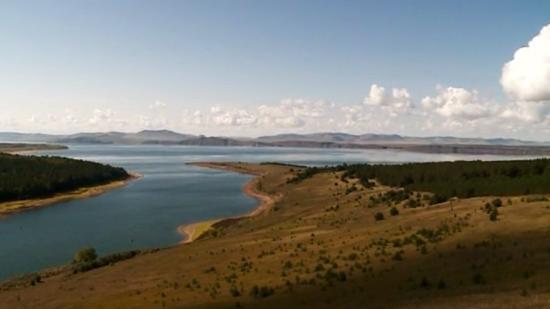 Anash, รัสเซีย: Вид на Красноярское водохранилище и Анашенский бор