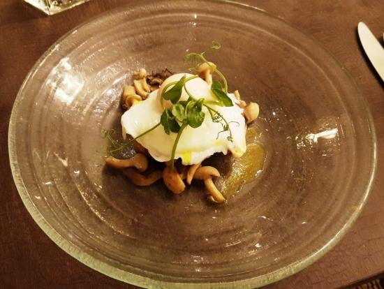 ... Harbour Hotel: Wild Mushrooms on Toast, Soft Poached Hen's Egg
